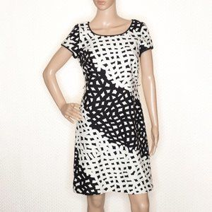 Talbots Black and White Dress